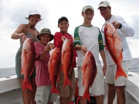 Family-fun with Pacific Red Snapper