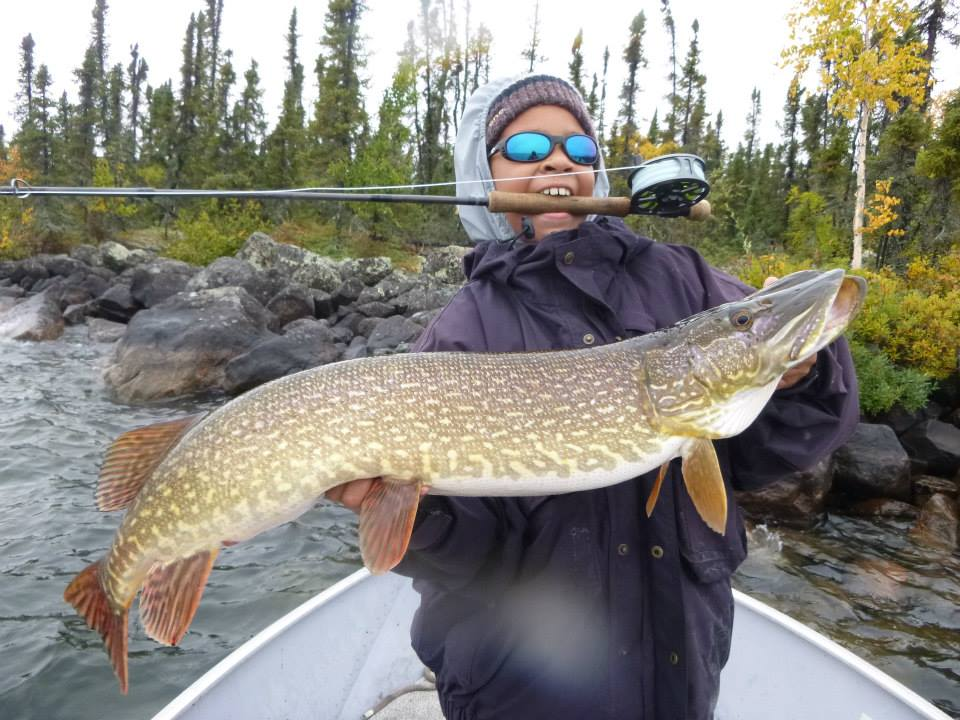"""39"""" Northern Pike on the Fly!"""